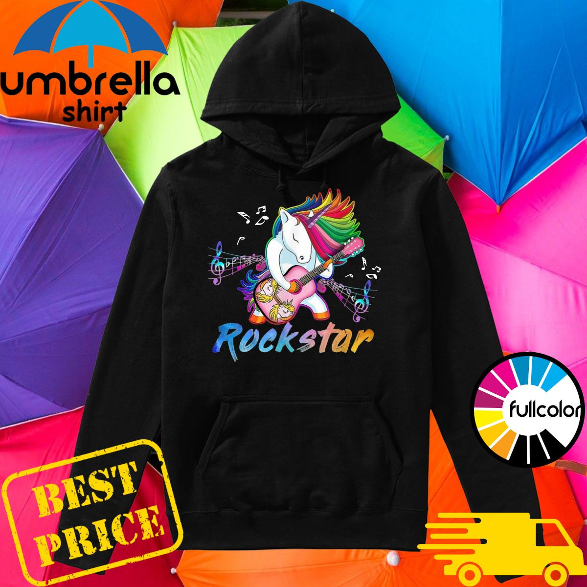 Official Unicorn Rockstar Guitar Shirt Hoodie