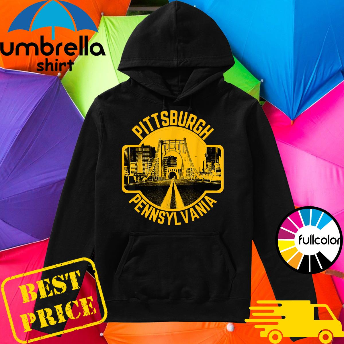 Pittsburgh Pennsylvania Steel City Skyline Home 412 Shirt Hoodie