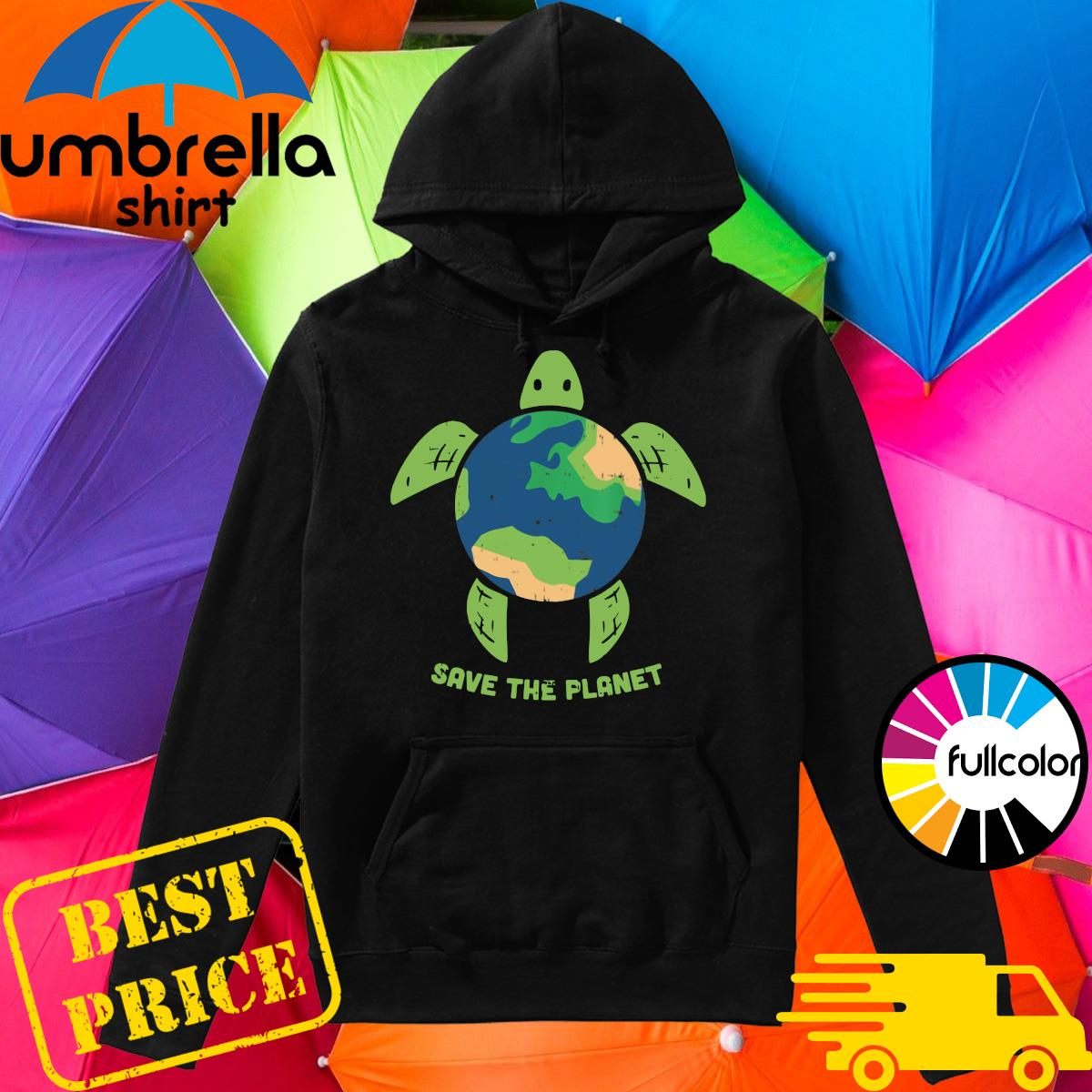 Turtle Recycled Ocean Save The Planet Shirt Hoodie