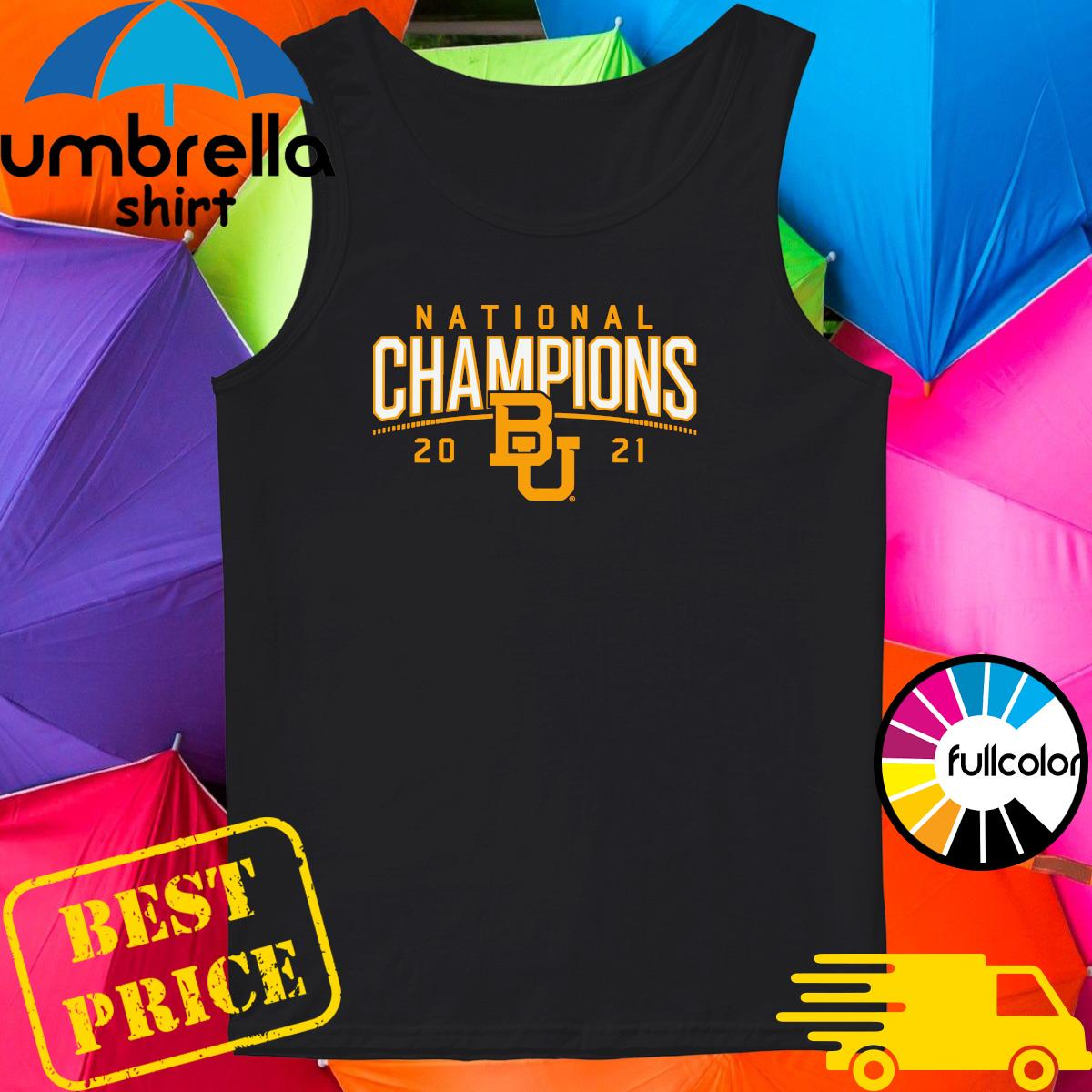 BU Baylor Bears 2021 National Champion Shirt Tank-top