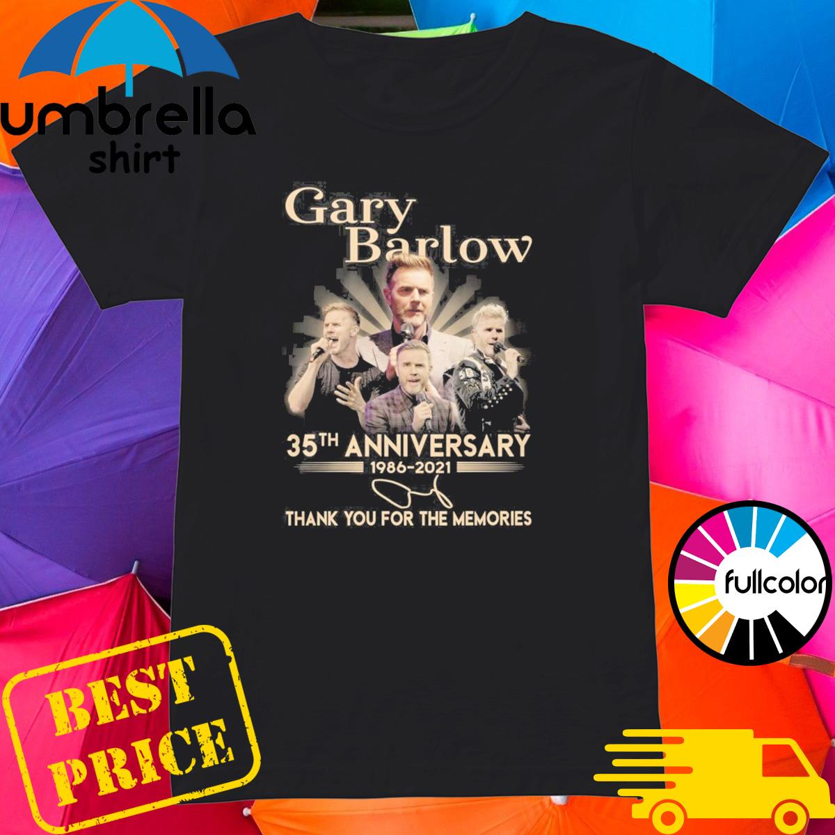 Gary Barlow 35th Anniversary 1986 2021 Signature Thank You For The Memories Shirt Ladies