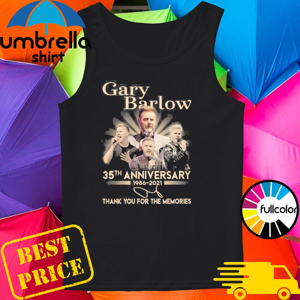 Gary Barlow 35th Anniversary 1986 2021 Signature Thank You For The Memories Shirt Tank-top