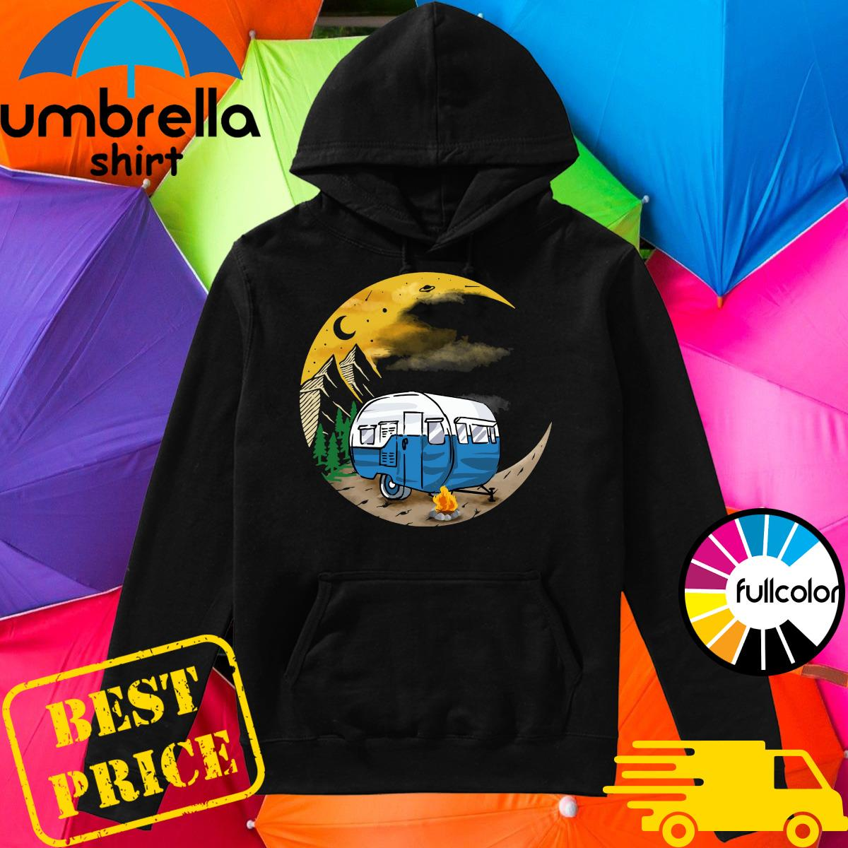 Official Camping To Moon Shirt Hoodie