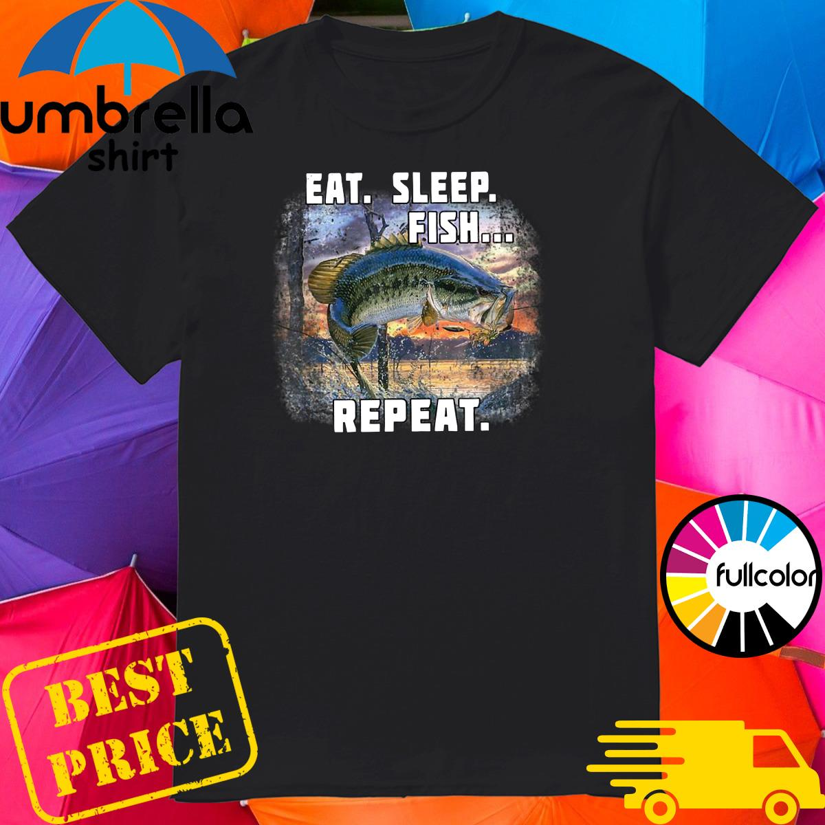 Official Eat Sleep Fish Repeat Shirt