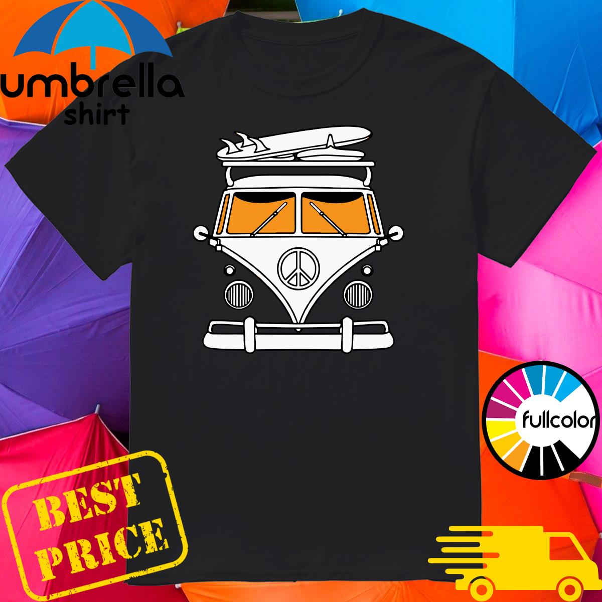 Peace Bus & Surfer Board Shirt